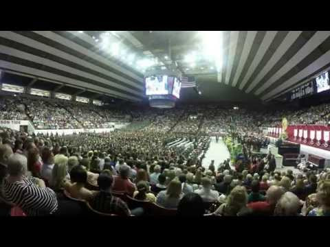 University of Alabama Graduation Ceremony in 7 minutes and 30 seconds.