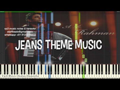 AR Rahman Theme/BGM Jeans/ Piano, Guitar, Flute, Saxophone, Voilin Notes