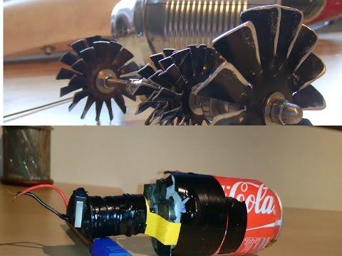 Tự chế động cơ phản lực bằng lon Coca Cola ( chạy thử )