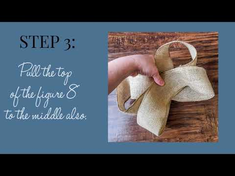 The Easiest Burlap Bow Tutorial (The Secret to Making a Burlap Bow!)