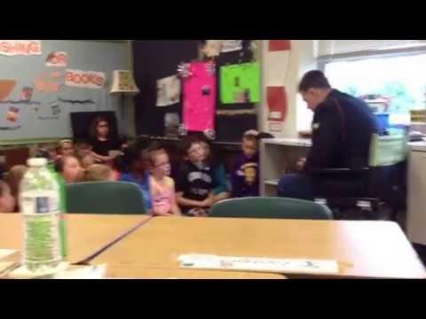 SPC Kevin Jaye at Smithsburg Elementary School
