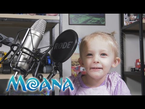 """2 Year Old Chloe Sings """"How Far I'll Go"""" from Disney's Moana Cover Kinder Playtime"""