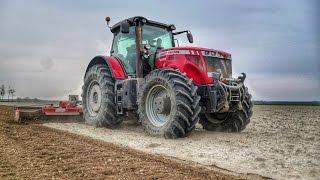 900 HP ON  FIELD!!  Massey Ferguson 8690/Challenger MT765C-Soil Preparation 2016