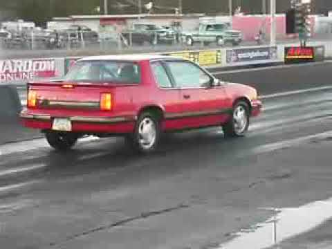 """""""THE CHEVETTE COLLECTOR"""" 1990 Olds Cutlass Calais 442 quad 4 H.O. racing at ATCO."""
