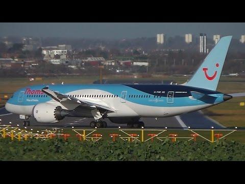 Thomson Airways Boeing 787-8 Dreamliner G-TUIE Takeoff at Birmingham Airport (BHX-EGBB) with ATC