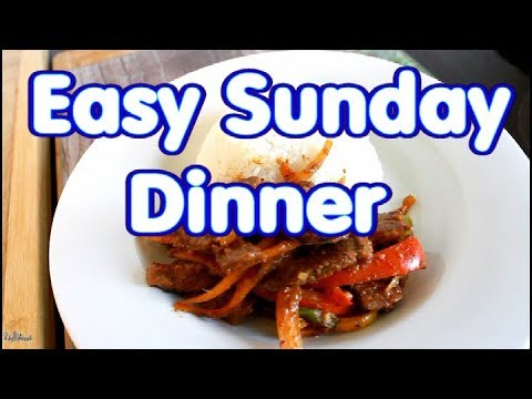 Easy Sunday Dinner Recipe Pepper Steak With Rice | Chef Ricardo Cooking
