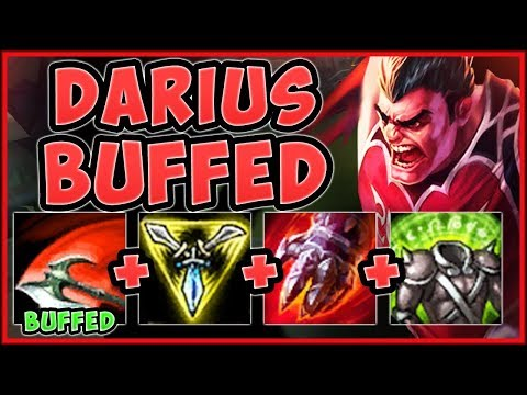 WTF! NEW DARIUS Q HEALING IS 100% OVERBUFFED! BUFFED DARIUS SEASON 9 TOP GAMEPLAY! League of Legends