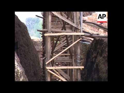 Monolithic churches in urgent need of repair