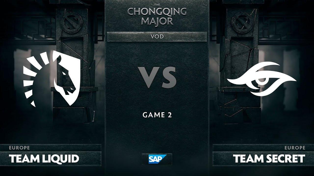 [EN] Team Liquid vs Team Secret, Game 2, The Chongqing Major UB Round 1