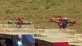 Drone racing competition concludes in north China