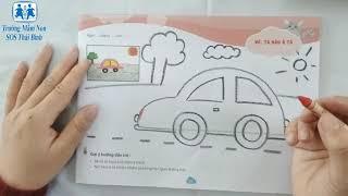 Tạo Hình Vẽ Và Tô Màu Ôtô - Trường mầm non SOS Thái Bình