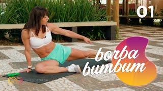 Como empinar o bumbum e destruir as celulites em 1 MÊS  #BorbaBumbum 01! - Carol Borba