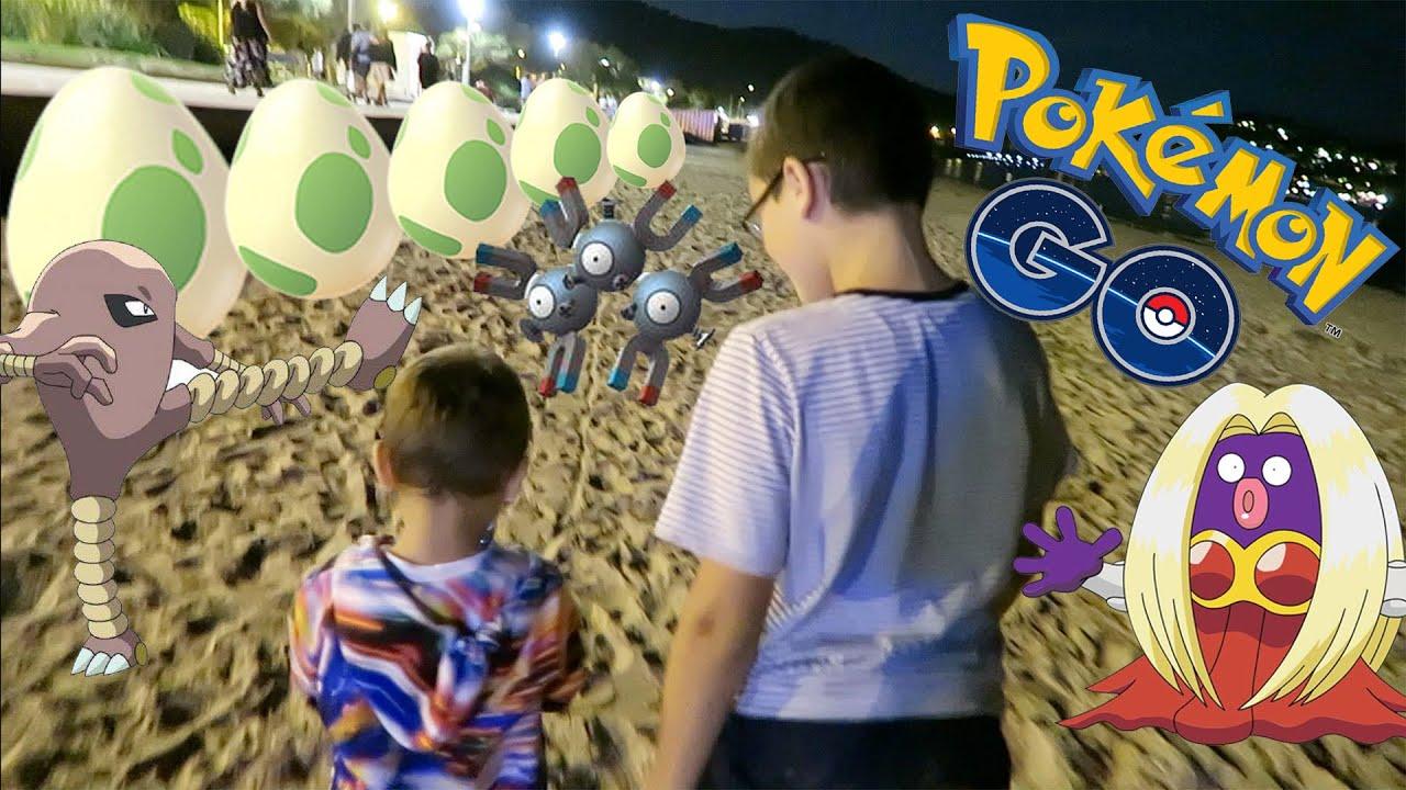 vlog closion d 39 oeufs 10km et chasse aux pokemon sur la plage de nuit pokemon go 1 2 youtube. Black Bedroom Furniture Sets. Home Design Ideas