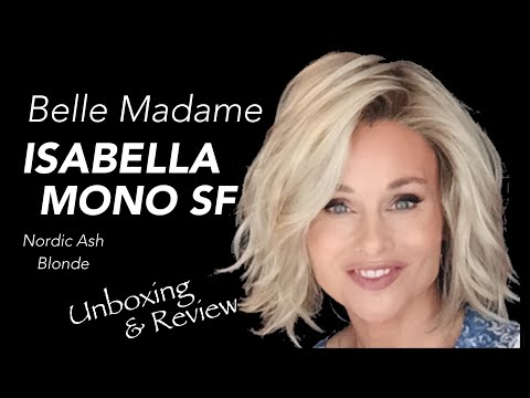 Belle Madame ISABELLA MONO SF Wig Review | NORDIC ASH BLONDE | UNBOXING & Application | STYLING