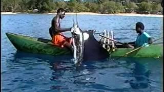 Sailfish fishing from outrigger canoes - Buka Island, Papua New Guinea (2005)