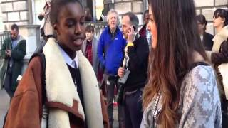 Leomie Anderson Interview at London Fashion Week AW 2013