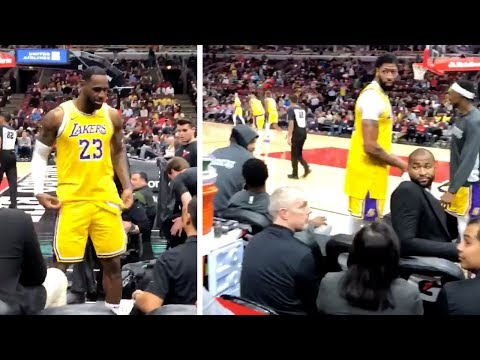 Lebron James Was DISRESPECTED By A Spectator So He FIRED BACK