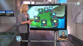 Visión 7 - Pronóstico para Córdoba, Santa Fe y Buenos Aires