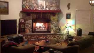 The Best Fireplace Video Huge With River Rocks