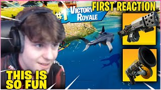 CLIX *FREAKS OUT* After Playing His First Game of Fortnite Season 3! (First Victory Royale)