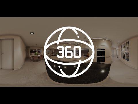 360 Grad Interaktive Wohnung | Virtueller Rundgang Wohnzimmer und Küche | Immobilien Visualisierung