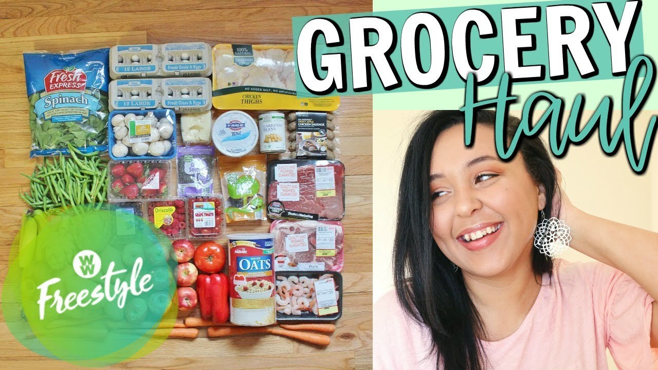 aldi grocery haul 2018 weight watchers freestyle grocery haul page danielle youtube. Black Bedroom Furniture Sets. Home Design Ideas