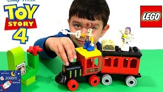 Johny Opens A Lego Steam Engine Train Toy  & Plays Steam Engine Train Race And Crash