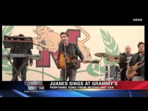 Juanes takes the stage at the 57th Grammy Awards