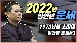 2022년 임인년 운세 / 1973년생 소띠의 *일간별 운세* #3