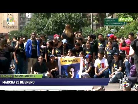 EN VIVO - Marcha de 23 de Enero en Venezuela