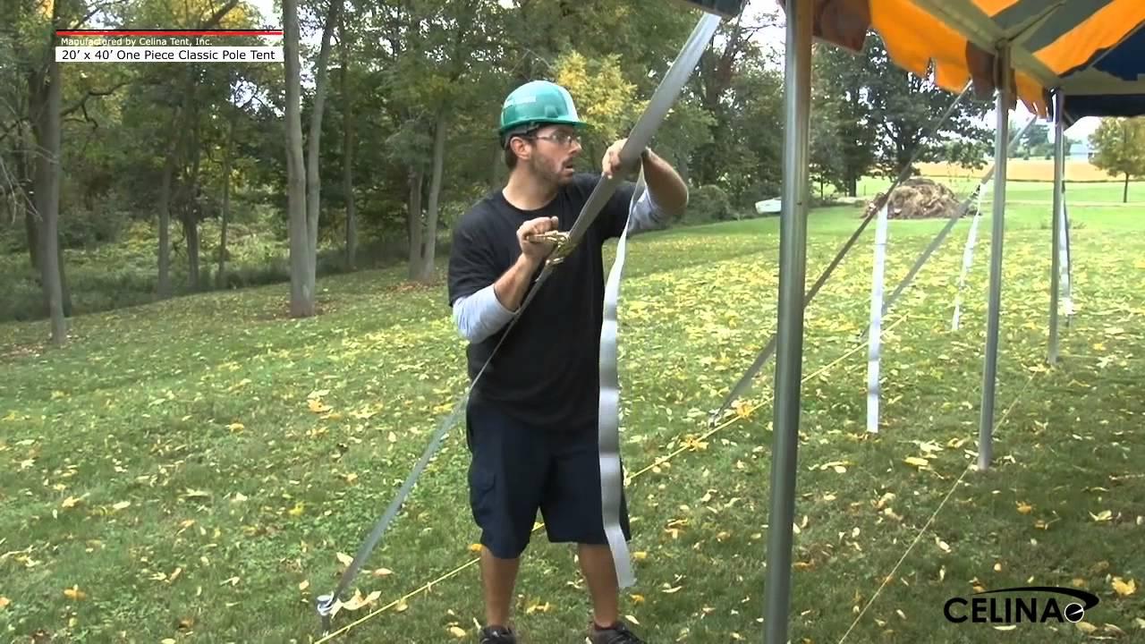 20 x 40 Classic Pole Tent - Installation Procedure