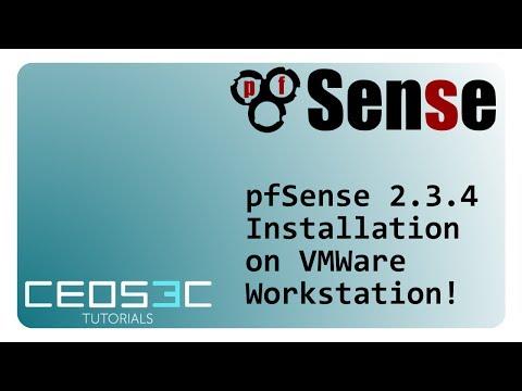 pfSense 2 3 4 Installation Step-by-Step VMWare Workstation