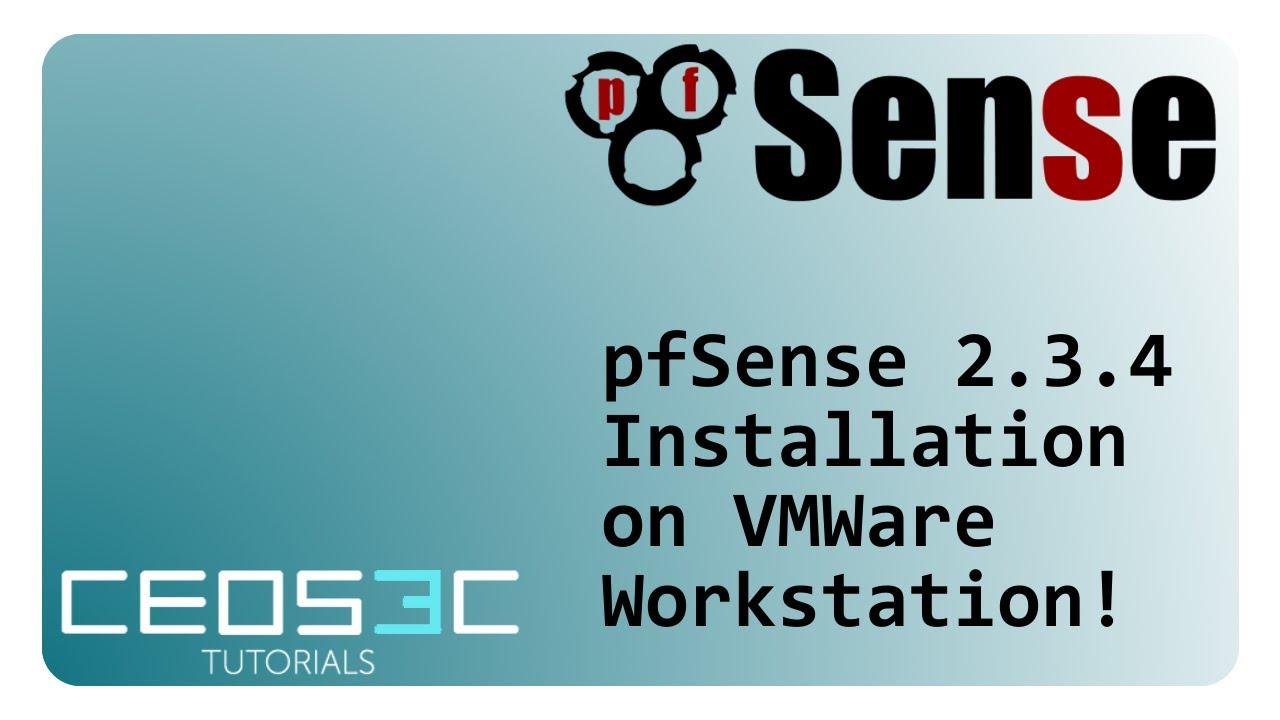 pfSense 2 3 4 Installation Step-by-Step VMWare Workstation 12