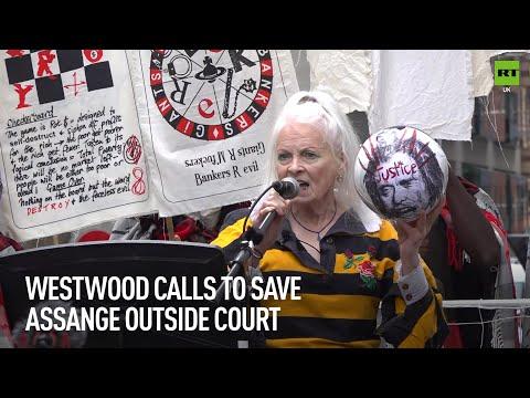 Vivienne Westwood calls out 'corrupt' Assange courtroom