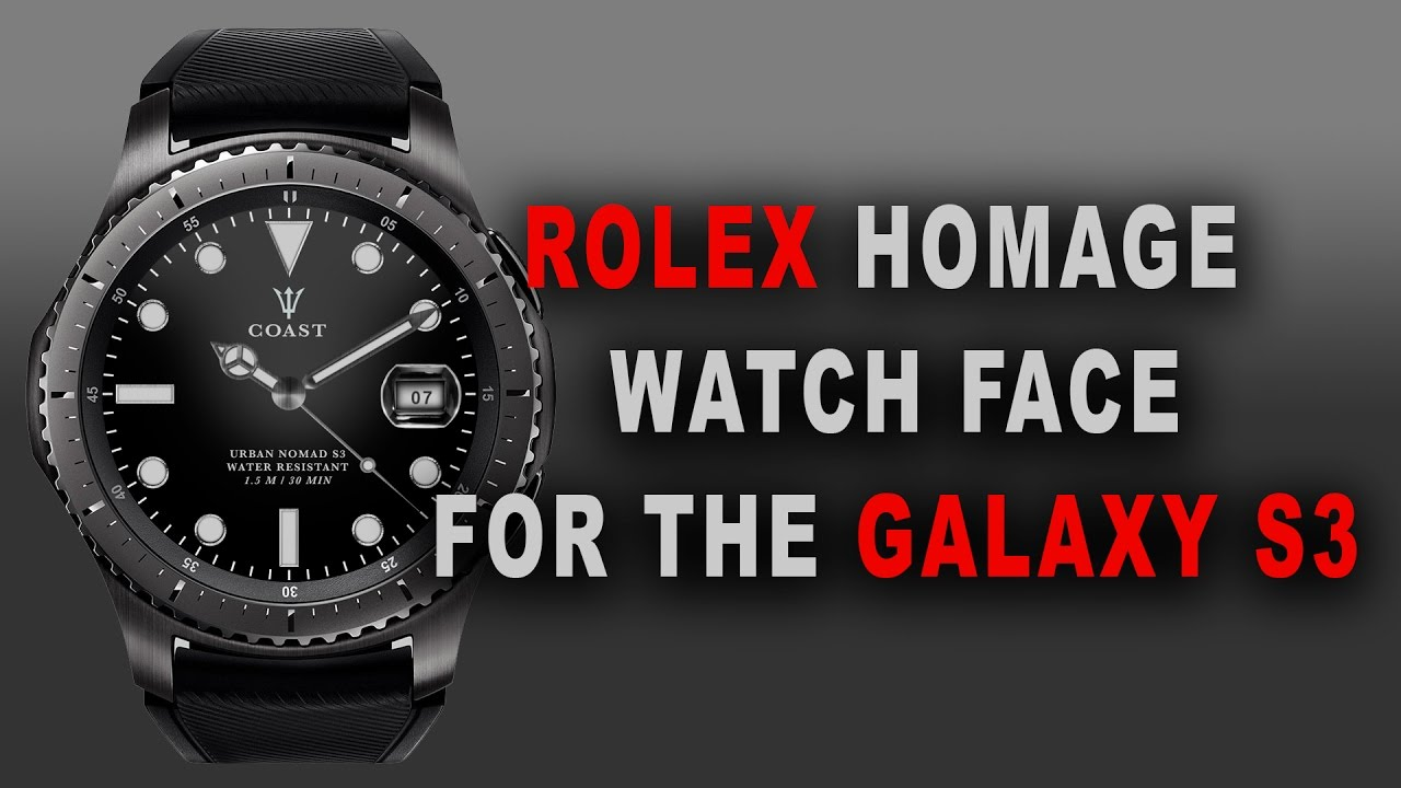 spesso Custom Rolex watch face on a Samsung gear S3 - YouTube RV85