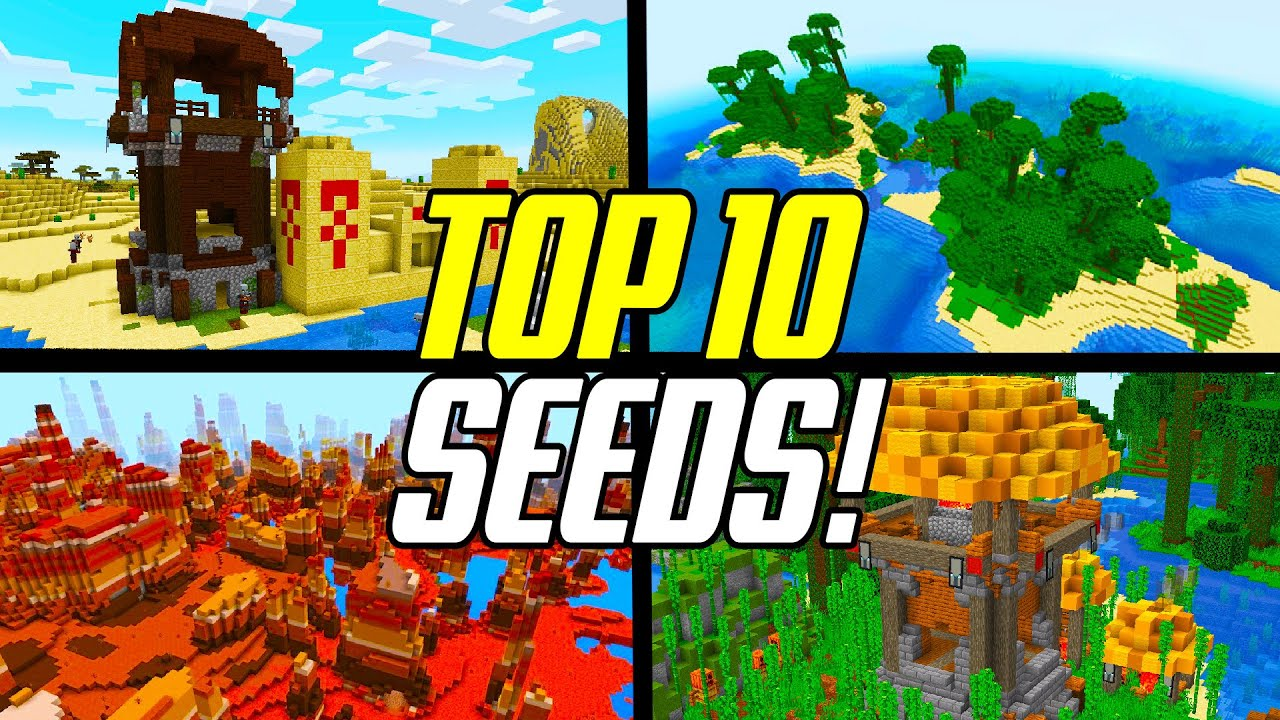 Top 1111 Minecraft 11.111 BEST Seeds (PC JAVA Edition) - YouTube