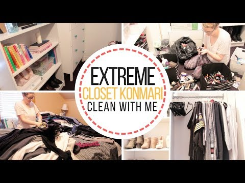 Extreme Closet Clean Out | Konmari Method | Organize With Me | Navigating Nicole | 2018