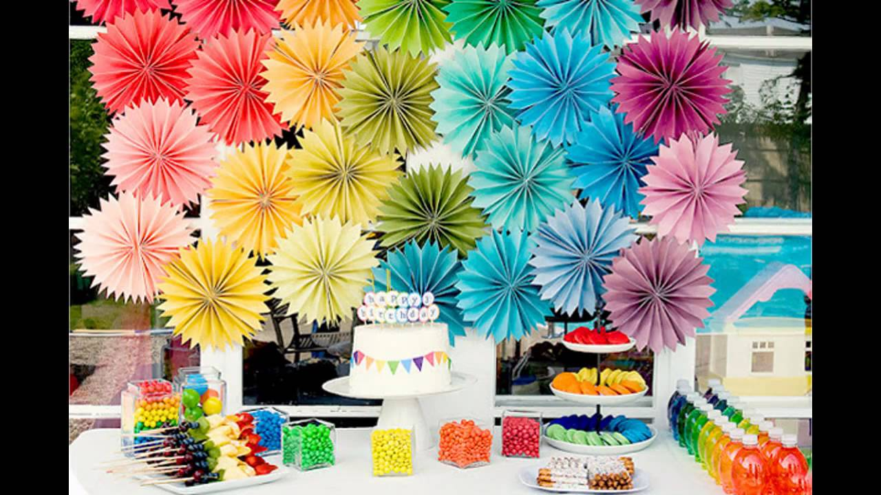 Birthday party theme decorations at home ideas for kids for Party decorations to make at home