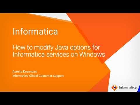 How to modify Java options for Informatica Services on Windows
