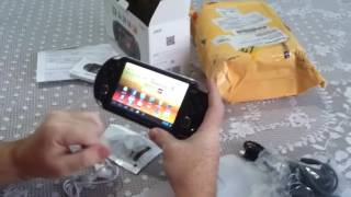 Unboxing do console Android JXD S5110B comprado na Price Angels