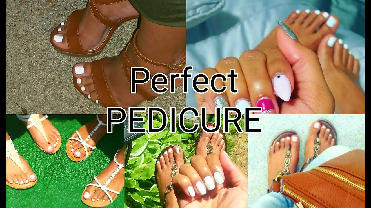 DIY: AT HOME PEDICURE   HOW TO: WHITE TOES! Perfect Soft Feet - YouTube