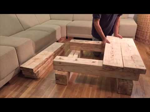 solid wood coffee table - home simanart - youtube