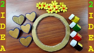 2 EASY PAPER CRAFT-DIY-EASY WALL DECORATION IDEAS-PAPER FLOWER WALL HANGING #PAPER CRAFT