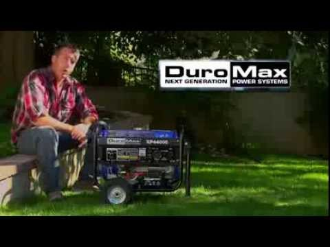 DuroMax XP4400EH 7 HP Dual Fuel Propane/Gas Powered Portable Electric Start Generator, 4400-Watt from YouTube · Duration:  3 minutes 25 seconds