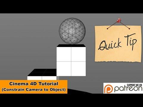 Constrain Camera to Object (Cinema 4D Tutorial)