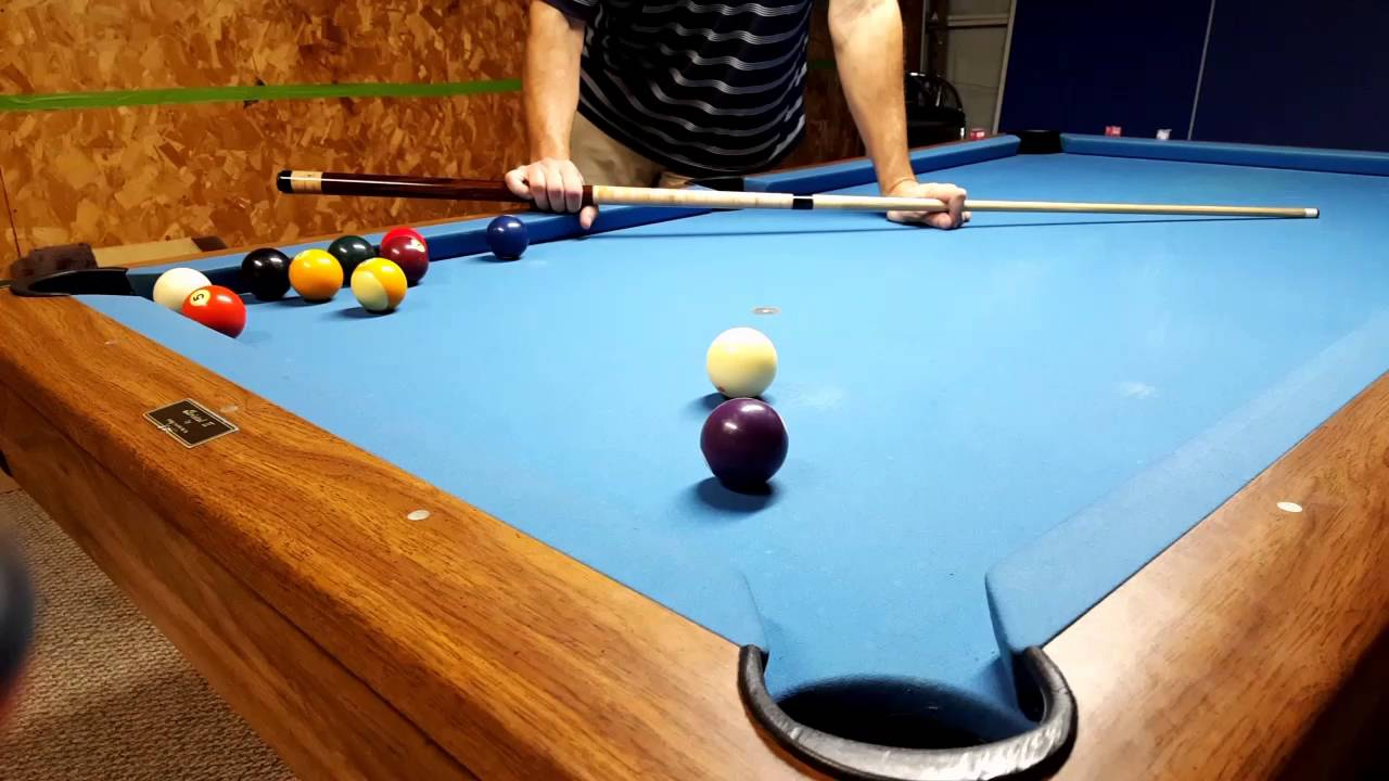 pool instruction on center to edge aiming system