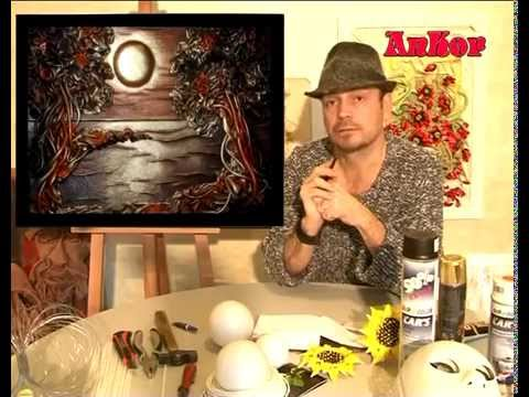 Картины из кожи Андрея Коробейникова. Витражная техника - YouTube