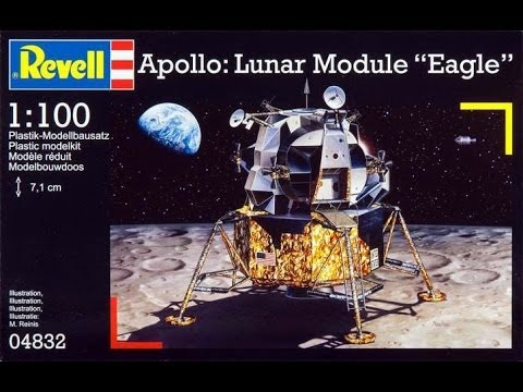 "AlexModelling ""OUTBOX REVIEW of 1/48 Revell APOLLO LUNAR MODULE EAGLE"