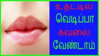 உதட்டில் வெடிப்பா ?கவலை வேண்டாம் .Tamil Health and Beauty Tips | Tamil Health Tips | JVN Health Tips