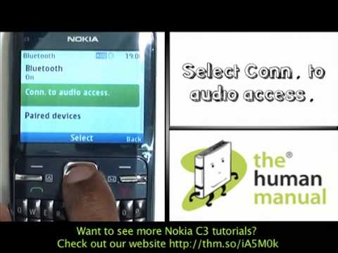 Pairing with a Bluetooth headset | Nokia C3 | The Human Manual
